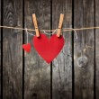 Two lovely red hearts — Stock Photo #63054863