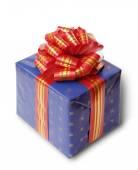Blue gift box — Foto de Stock