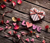 Alla hjärtans dag bakgrund — Stockfoto