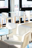White cafe interior without people — Stock Photo
