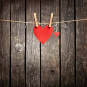 Two lovely red hearts — Stock Photo