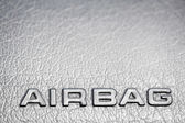 Text Airbag on car panel — Stock Photo