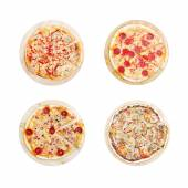 Set with four different pizza — Stock Photo