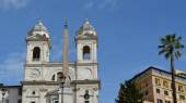 Spagna squere and trinità dei monti church — ストック写真