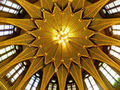 Golden dome in Hungarian Parliament Building — Stock Photo