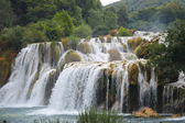 Krka park  the largest waterfall  in croatia — Stock Photo