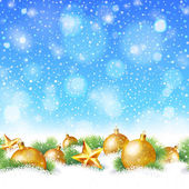 Abstract winter or christmas background — 图库矢量图片