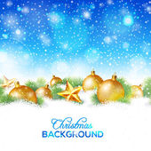 Abstract winter or christmas background — Vector de stock