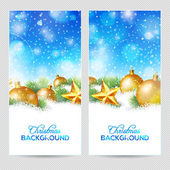 Abstract winter or christmas background with balls — 图库矢量图片