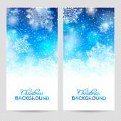 Blue Abstract winter or christmas background — Stock Vector
