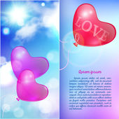 Romantic background valentines day card — Stock Vector