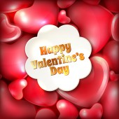 Happy Valentines Day greeting card template — Vecteur