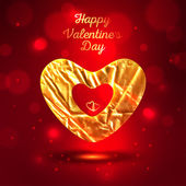 Happy Valentines Day greeting card template — Stock vektor