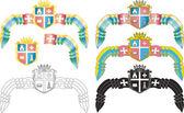 Emblem of the Ukrainian city of Kremenets — Stock Vector