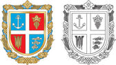 Emblem Reni district of Odessa region of Ukraine — Stock Vector