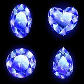Set of geometric icons, diamonds — Stock Vector
