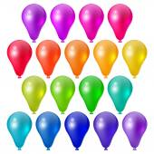 Set a festive bright balloons — Stock Vector