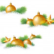 Christmas decorations and pine branches — Stock Vector #62207519