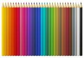 Set of multicolored wooden pencils — Stok Vektör