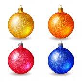 Set of bright colored Christmas balls — Cтоковый вектор