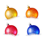 Christmas icons with  balls — Stock Vector