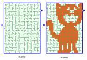 Children picture logic puzzles — Stockvektor