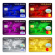 Template credit card set — Stock Vector #71198869