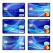 Template credit card set — Stock Vector #71198943