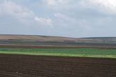 Farm Landscape of Ploughed Earth — Stock Photo