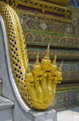 Naga at Emerald Buddha Temple Bangkok Thailand — Stock Photo