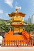 Golden Pavilion of Perfection in Nan Lian Garden, Hong Kong, Chi — Stockfoto