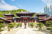 Chi Lin Nunnery in Diamond Hill, Kowloon, Hong Kong. — Stock Photo