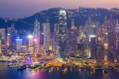 Victoria Harbour in Hong Kong, China — 图库照片