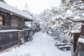 Zima w Takayama, zwiedzanie Podróże Japonii — Zdjęcie stockowe