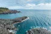 Jungmun Daepo coast with columnar joints at Jeju Island, South K — Stock Photo