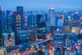 Osaka skyline view from Umeda sky tower in Japan — Fotografia Stock