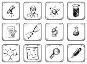 Science icons. — Stock Vector