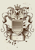 Heraldic illustration — Stock Vector
