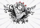 Tattoo Girl — Stock Vector