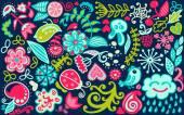 天然花卉图案 — 图库矢量图片