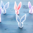Group of Cute bunnies colorful paper — Stock Photo #70220171
