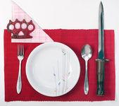 Terrorist setting kitchen — Stock Photo