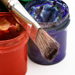 Paints and brush — Stock Photo #61783715