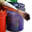 Paints and brush — Stock Photo #61783719