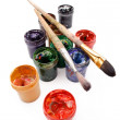 Paints and brushes — Stock Photo #61783739