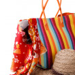 Beach bag and hat — Stock Photo #61784153