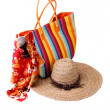 Beach bag and hat — Stock Photo #61784155