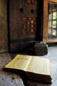 Koran at windowsill — Stock Photo