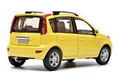 Generic modern yellow family car model — Stock Photo