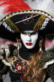 Venetian carnival costume — Stock Photo